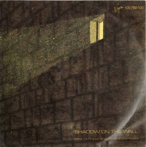 "Mike Oldfield and Roger Chapman : Shadow On The Wall 7"" (Käyt)"