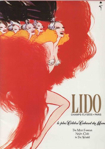 Lido Cabaret Night Club Champs Elysee Paris France 1985 Program