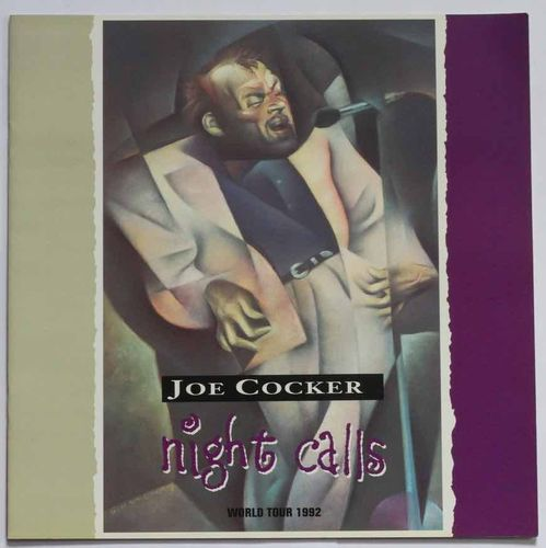 Joe Cocker : Night Calls World Tour 1992 Program