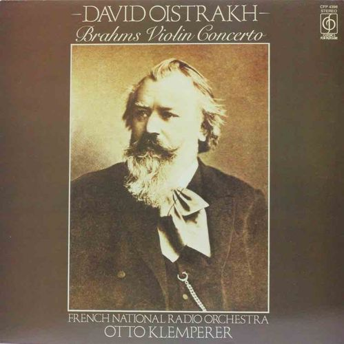 Brahms / David Oistrakh / French National Radio Orchestra / Otto Klemperer ‎: Violin Concerto LP