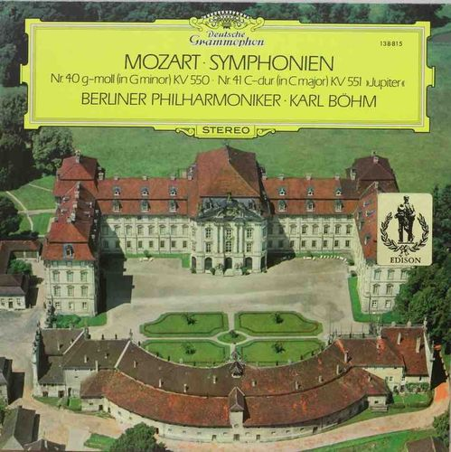 "Mozart : Symphonien Nr. 40 G-moll (In G Minor) KV550 / Nr. 41 C-dur (In C Major) KV 551 ""Jupiter"" LP"