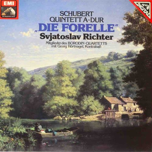 "Schubert / Sviatoslav Richter / Members of the Borodin Quartet : Quintet In A Major:  ""The Trout"" LP"